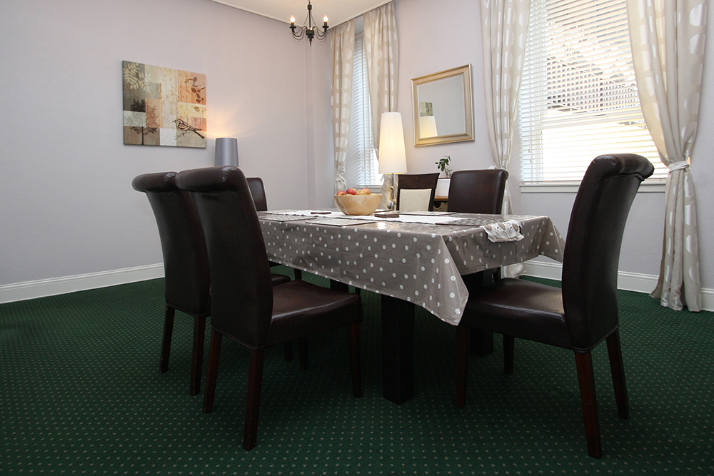 Dining room at Ballater Street residence