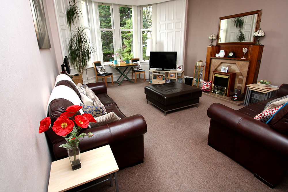Tollcross living room.