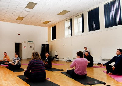 Yoga session in our gym hall